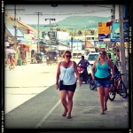 Walking down the streets of Koh Phangan.
